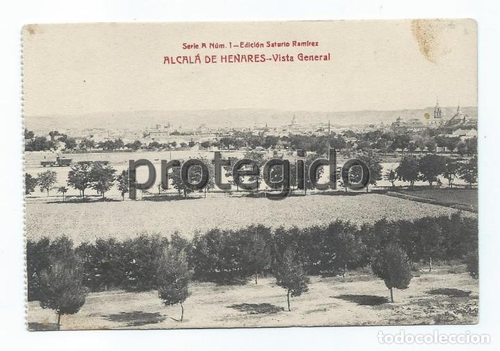 POSTAL. ALCALÁ DE HENARES. VISTA GENERAL. EDICIÓN SATURIO RAMÍREZ. (Postales - España - Comunidad de Madrid Antigua (hasta 1939))