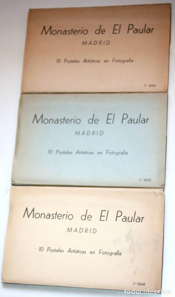3 BLOCS MONASTERIO DEL PADUAR SERIES 1, 2 Y 3 10 POSTALES ARTÍSTICAS CADA UNA (Postales - España - Comunidad de Madrid Antigua (hasta 1939))