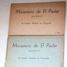Postales: 3 BLOCS MONASTERIO DEL PADUAR SERIES 1, 2 Y 3 10 POSTALES ARTÍSTICAS CADA UNA. Lote 88217708