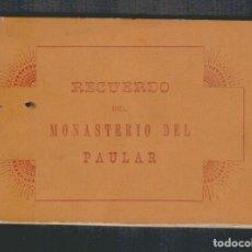 Postales: LIBRITO CON 24 VISTAS DEL MONASTERIO DEL PAULAR.RASCAFRIA (MADRID ).ROCAFULL Y CIA.FINALES SIGLO XIX. Lote 88991972