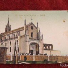 Postales: POSTAL IGLESIA DE LOS JERONIMOS, MADRID, THOMAS, 1ª EDICION. Lote 89002984