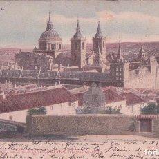 Postales: POSTAL EL ESCORIAL - VISTA GENERAL DEL MONASTERIO - FOT LAURENT 6 - CIRCULADA - HISTORIA Y ARTE. Lote 90139980