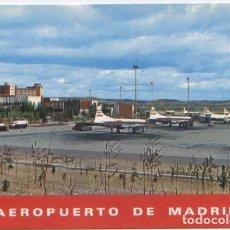 Postais: POSTAL MADRID AEROPUERTO BARAJAS AERONAVES IBERIA DOUGLAS DC4 ? CONVAIRS ? 1969 ED. GALLEGOS N° 124. Lote 90171596