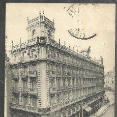 Postales: MADRID - GRAND HOTEL - ARENAL, 19 Y 21 - CIRCULADA 1914 - SELLO DESPRENDIDO -. Lote 90174408