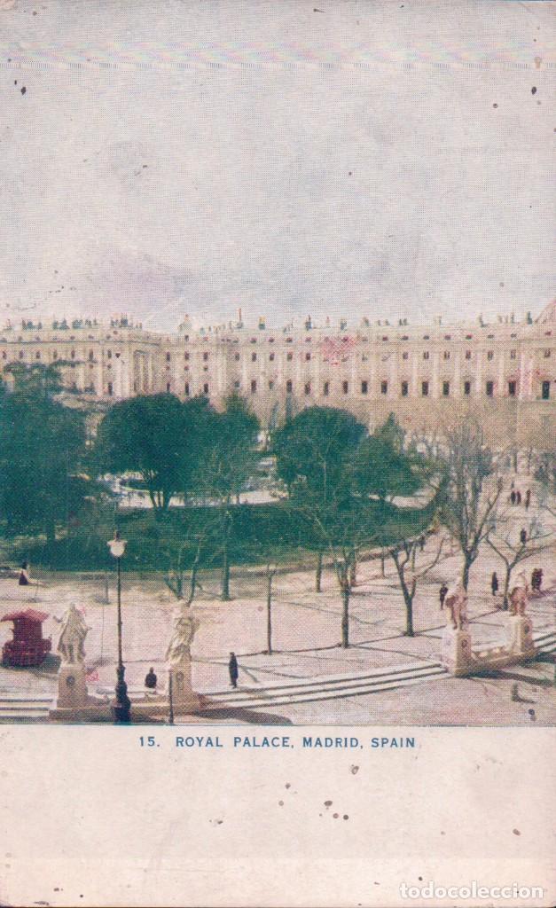 POSTAL MADRID - ROYAL PALACE 15 - POSTAL EDICION AMERICANA (Postales - España - Comunidad de Madrid Antigua (hasta 1939))