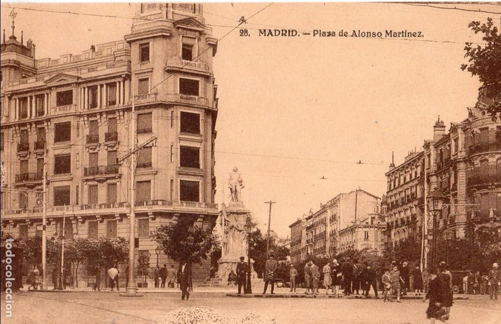 MADRID.- PLAZA DE ALONSO MARTINEZ, ALB,4.-POST.-92, JMOLINA1946 (Postales - España - Comunidad de Madrid Antigua (hasta 1939))
