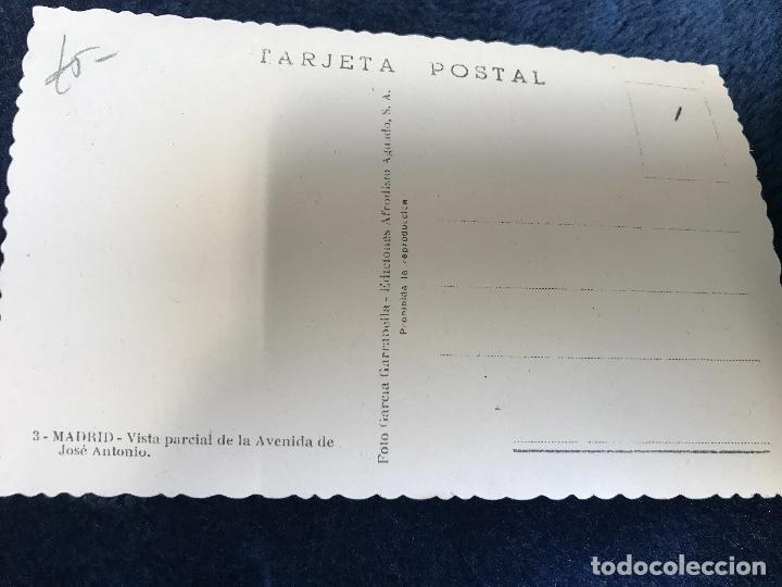 Postales: ANTIGUA POSTAL MADRID VISTA PARCIAL AVENIDA JOSÉ ANTONIO NÚM 3 GARRABELLA - Foto 2 - 91793190