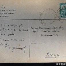Postales: ANTIGUA POSTAL COLEGIO NUESTRA SEÑORA DEL RECUERDO CHAMARTIN DE LA ROSA MADRID . Lote 91817115
