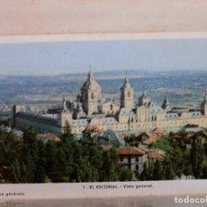 Postales: CARTERA 25 VISTAS COLOR 10X6, EL ESCORIAL,AÑOS 50. Lote 92277715