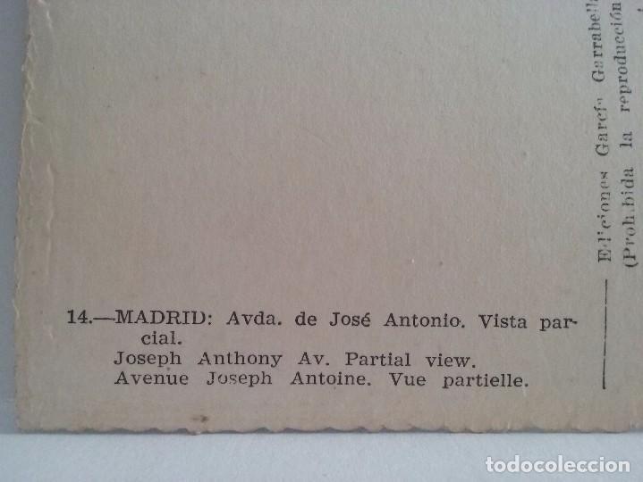Postales: Madrid. Avenida de Jose Antonio. Vista parcial - Foto 3 - 93268100