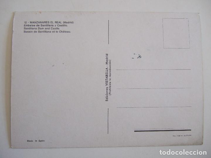 Postales: POSTAL MADRID - MANZANARES EL REAL - EMBALSE DE SANTILLANA Y EL CASTILLO - 1978 - SIN CIRCULAR - Foto 2 - 93336600