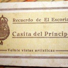 Postales: CASITA DEL PRÍNCIPE. RECUERDO DEL ESCORIAL. 20 VISTAS ARTÍSTICAS. MUY BUEN ESTADO. Lote 93837735