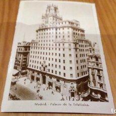 Postales: MADRID PALACIO DE LA TELEFONICA. Lote 93929805
