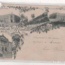 Postales: HAUSER RECUERDO DE MADRID. TIPO GRUSS VARIAS VISTA. REVERSO CON LETRA GÓTICA. ESCRITA SIN CIRCULAR.. Lote 94127095