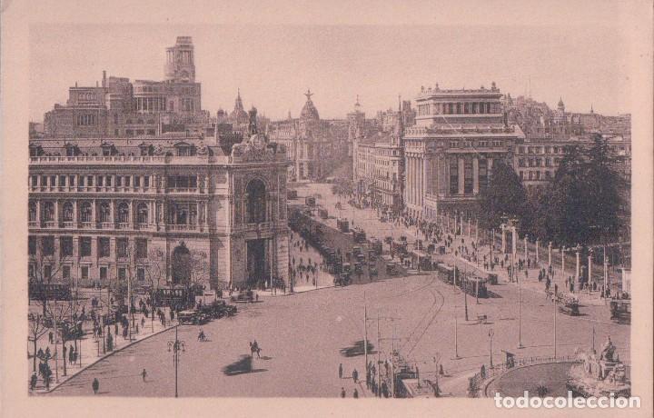 POSTAL MADRID - 54 BANCO DE ESPAÑA - LA CIBELES Y CALLE ALCALA - KALLMEYER Y GAUTIER (Postales - España - Comunidad de Madrid Antigua (hasta 1939))