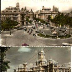 Postales: DOS POSTALES COLOREADAS DE MADRID AÑOS 50. Lote 95050035