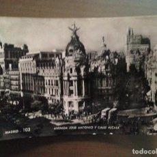 Postales: POSTAL MADRID - AVENIDA JOSE ANTONIO Y CALLE ALCALA. Lote 95174079