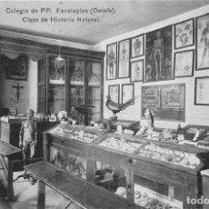 Postales: COLEGIO DE PP. ESCOLAPIOS (GETAFE).- CLASE DE HISTORIA NATURAL. Lote 95999931