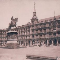 Postales: POSTAL FOTOGRAFICA MADRID - PLAZA MAYOR - BIG SQUARE - LA GRANDE PLACE - F MOLINA 28 - TRANVIA. Lote 97080871