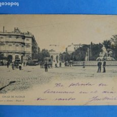 Postales: MADRID. 83. CALLE DE ALCALÁ. HAUSER Y MENET. ESCRITA Y CIRCULADA EN 1902.. Lote 97098483