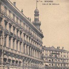 Postales: MADRID.- CALLE SEVILLA. Lote 97118955