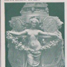 Postales: MADRID - PEDESTAL DEL JARRON - OBRAS DE M. BENLLIURE 1 SERIE N° 6. Lote 97481203