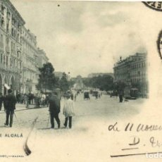 Postales: MADRID CALLE DE ALCALÁ HAUSER Y MENET 276 CIRCULADA EN 1900 SELLO PELON RARA MATASELLOS ESTAFETA EST. Lote 97660411