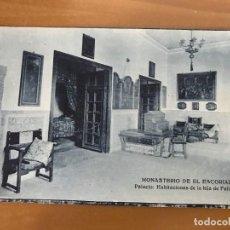 Postales: 61 MONASTERIO DEL ESCORIAL NUEVA HABITACIONES HIJA DE FELIPE II. Lote 97756904