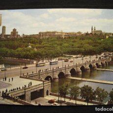 Postales: POSTAL MADRID - PUENTE DE SEGOVIA Y RIO MANZANARES.. Lote 98140303