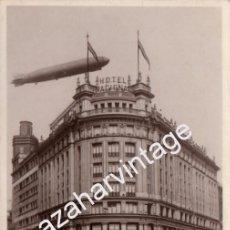 Postales: ANTIGUA FOTO POSTAL - MADRID - EL GRAF ZEPPELIN SALUDA A LOS CONGRESISTAS DE TELEGRAFIA Y RADIO ALOJ. Lote 98484343