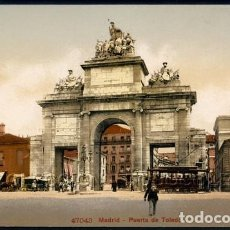Postales: POSTAL MADRID PUERTA DE TOLEDO . PHOTOGLOB 47043 . LITOGRAFIA . CA AÑO 1905. Lote 98579691