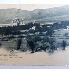 Postales: POSTAL MONASTERIO DEL ESCORIAL, VISTA GENERAL, HAUSER Y MENET 726, CIRCULADA . Lote 98744123