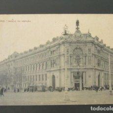 Postales: POSTAL MADRID. BANCO DE ESPAÑA. CIRCULADA. AÑO 1910. . Lote 98828439