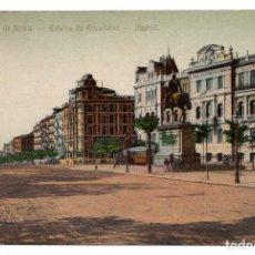 Postales: TARJETA POSTAL MADRID - ESTATUA DEL GENERAL ESPARTERO Y CALLE DE ALCALA. Lote 98893139