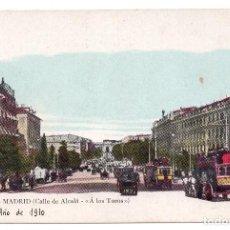 Postales: TARJETA POSTAL MADRID. CALLE DE ALCALA, A LOS TOROS. ED. JOSE BLASS Y CIA. . Lote 98893275