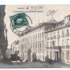 Postales: POSTAL FOTOGRÁFICA, ANTIGUA DE LA FACHADA DEL MINISTERIO DE HACIENDA EN LA CALLE ALCALÁ. Lote 98893827