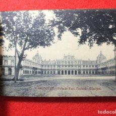 Postales: ALBUM BLOC LOTE 15 POSTALES ARANJUEZ PALACIO REAL CABALLERÍA JARDINES HIPÓDROMO TAJO. Lote 99473747