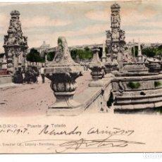 Postales: MADRID - PUENTE DE TOLEDO. DR TRENKLER. 1907. Lote 99743119
