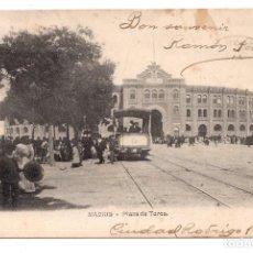 Postales: MADRID - PLAZA DE TOROS - TRANVIA. Lote 99743631