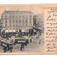 Postales: MADRID - GRAND HTEL DE LA PAIX MADRID - VISTA DE TRANVIAS. Lote 99743831