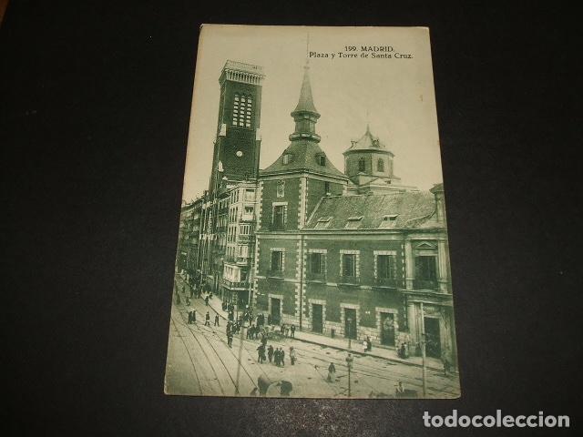 MADRID PLAZA Y TORRE DE SANTA CRUZ (Postales - España - Comunidad de Madrid Antigua (hasta 1939))