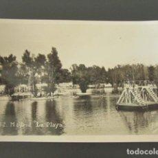 Postales: POSTAL MADRID. LA PLAYA. AÑO 1935. . Lote 99961991