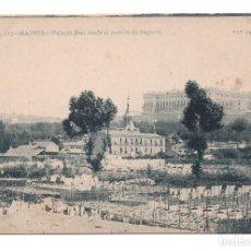 Postales: POSTAL MADRID PALACIO REAL DESDE EL PUENTE SEGOVIA. FOT. LAURENT. Lote 100173895