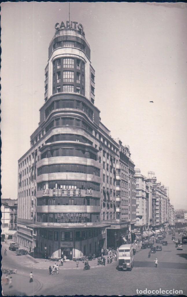 POSTAL MADRID - EL CAPITOL Y GRAN VIA - ARRIBAS - ESCRITA (Postales - España - Comunidad de Madrid Antigua (hasta 1939))