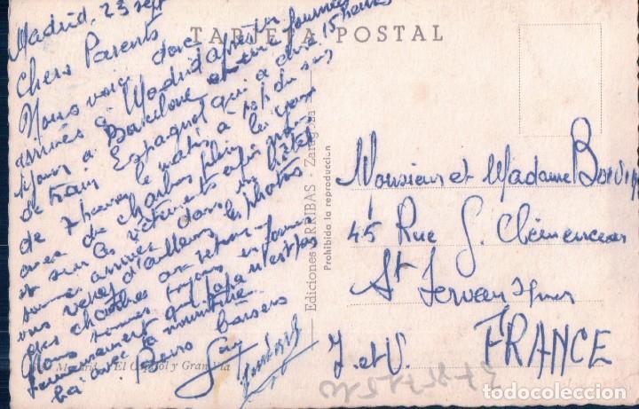 Postales: POSTAL MADRID - EL CAPITOL Y GRAN VIA - ARRIBAS - ESCRITA - Foto 2 - 100293675