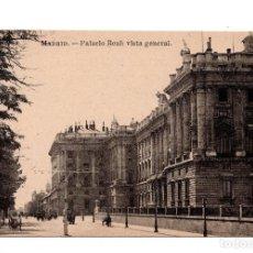 Postales: MADRID.- PALACIO REAL VISTA GENERAL. Lote 100542727