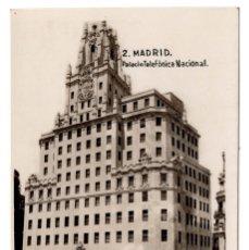 Postales: MADRID.- PALACIO TELEFÓNICA NACIONAL. Lote 100542891