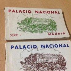 Postales: ANTIGUAS POSTALES PALACIO NACIONAL MADRID TACO BLOC SÈRIE I Y II. Lote 101048019