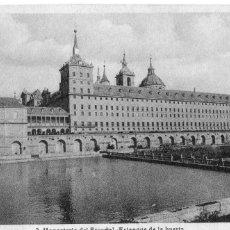 Postales: MADRID.- SAN LORENZO DEL ESCORIAL, CIRCULADA 1943,DIVIDIDA, ESTANQUE DE LA HUERTA,JMOLINA1946. Lote 101382395