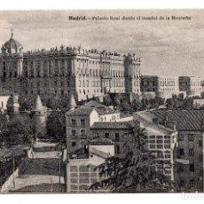 Postales: MADRID.- PALACIO REAL, DESDE EL CUARTEL DE LA MONTAÑA. FOT. LACOSTE. Lote 101414571